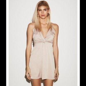 Express Twist Front Satin Dress 6